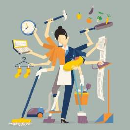 44708423-vector-illustration-in-super-mom-concept-many-hands-working-with-very-busy-business-and-housework-pa