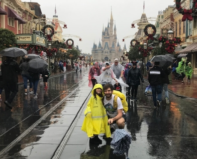 Disney in the rain